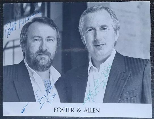 Foster & Allen Signed Promo Photo - Irish Folk/Country Duo