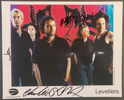 The Levellers Signed Promo Photo