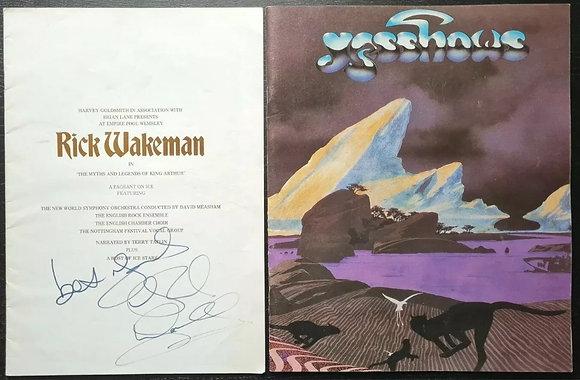 Rick Wakeman Signed Empire Pool Wembley (1975) Programme + Yes Programme