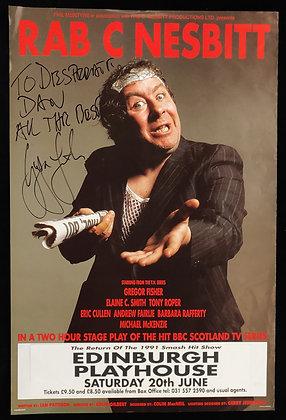 Gregor Fisher Signed Rab C Nesbitt Poster