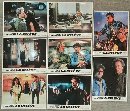 The Rookie (1990) French Lobby Cards (x8) - Clint Eastwood