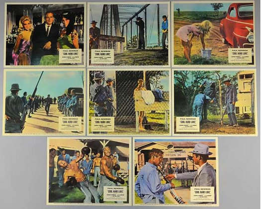 Cool Hand Luke Front of House/Lobby Cards (x8)