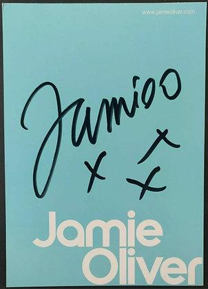 Jamie Oliver Signed Promo Flyer