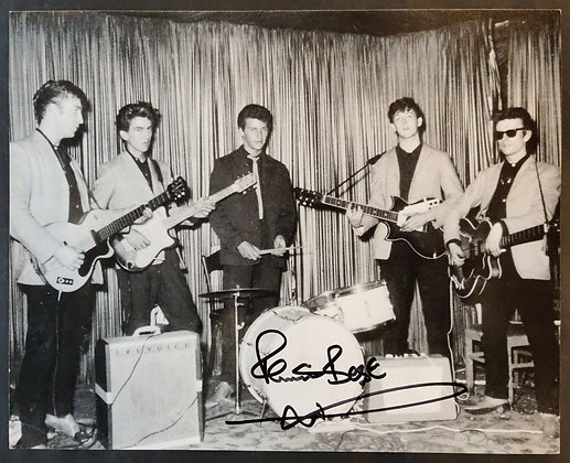 Pete Best Signed Early Beatles Photo