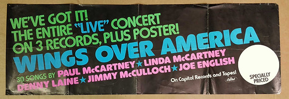 Wings Promo Poster from 1976