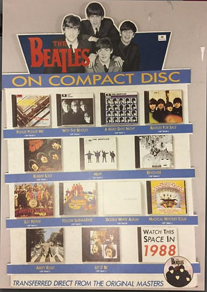 The Beatles On Compact Disc Shop Display 1987