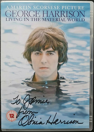 Olivia Harrison Signed 'George Harrison: Living In The Material World' DVD