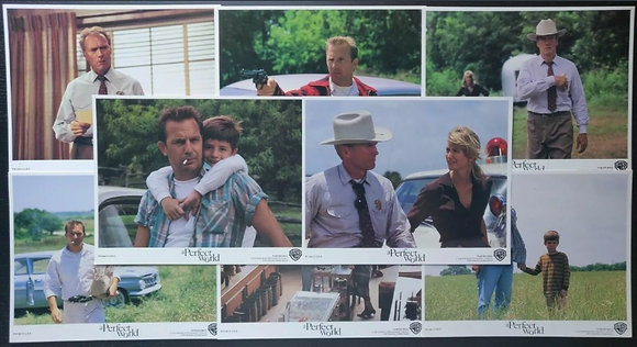 A Perfect World (1993) FOH/Lobby Cards (X8) - Clint Eastwood, Kevin Costner