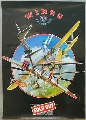 Wings Promo Poster for Sold Out UK Tour 1979 - Paul McCartney
