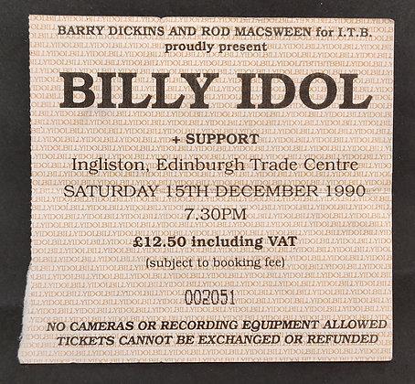 Billy Idol Ticket 1990