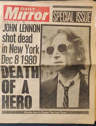 John Lennon Beatles Newspaper Headline
