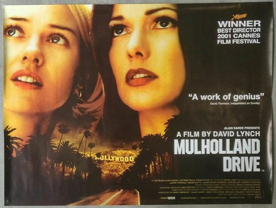 Mulholland Drive (2001) UK Quad Poster - David Lynch, Naomi Watts