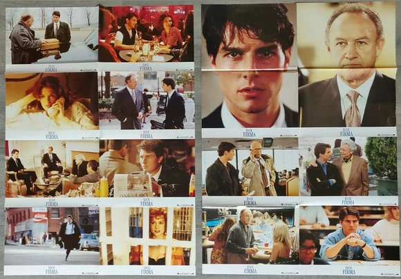 The Firm (1993) Uncut German Lobby Card Sheets (X2) - Tom Cruise, Gene Hackman