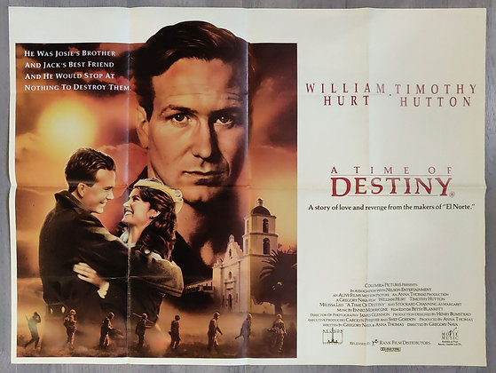 A Time Of Destiny (1988) Cinema Quad Poster - William Hurt, Timothy Hutton