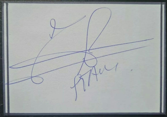 Jaap Stam Signed Index Card - Dutch Footballer, Man Utd, PSV Eindhoven