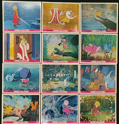 Sword In The Stone UK Lobby Card Set Of 12 - 1963 - Walt Disney