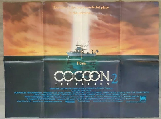 Cocoon 2: The Return (1988) UK Quad Poster - Don Ameche, Wilford Brimley