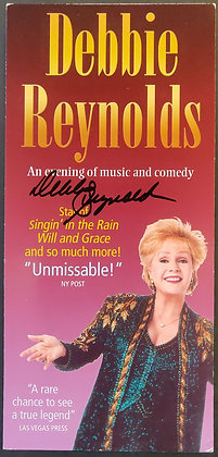 Debbie Reynolds Signed Show Flyer with COA - Apollo Theatre, London, 2010