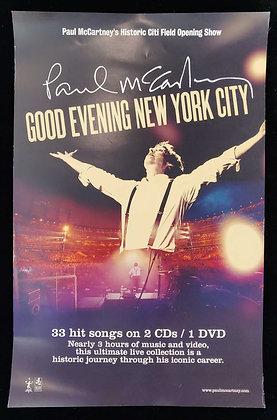 Paul McCartney 'Good Evening New York City' Promo Poster - The Beatles