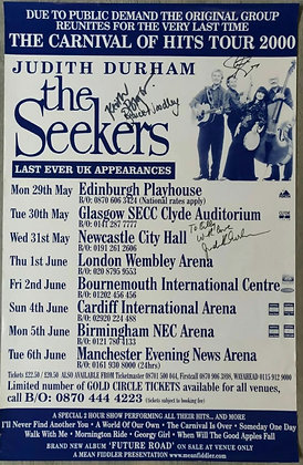 The Seekers Signed Poster from Edinburgh Playhouse 2000 - Judith Durham + 3
