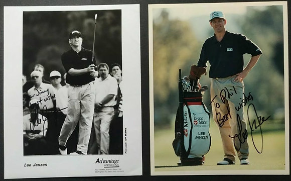 Lee Janzen Signed Photos (X2)  - US Open Champion (1993/1998)