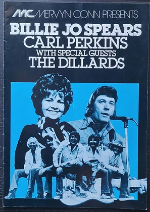 Carl Perkins Signed UK Tour Programme - Billie Jo Spears, The Dillards - 1977