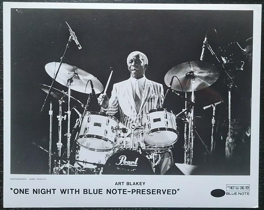 "Art Blakey Promo Photo ""One Night With Blue Note-Preserved"" - Blue Note Records"