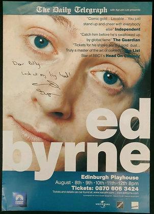 Ed Byrne Signed Edinburgh Playhouse Poster - Early 2000s