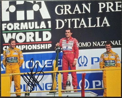 Martin Brundle Signed Photo - Formula One, Benneton F1 Team