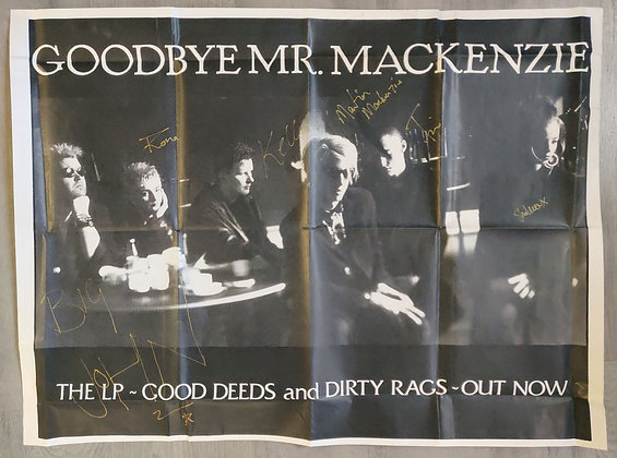 Goodbye Mr Mackenzie Fully Signed Poster + Magazine Cutting & Ticket Stubs (X2)