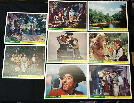Treasure Island Front of House/Lobby Cards (x8)