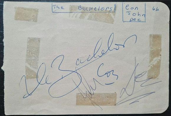 The Bachelors Autographs - Con, John & Dec - 1964