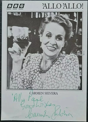 Carmen Silvera Signed Promo Photo/Print - 'Allo 'Allo - BBC