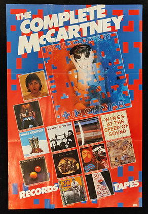 Paul McCartney 'The Complete McCartney' Discography Promo Poster - 1982 - EMI