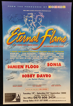 Eternal Flame Signed Poster Edinburgh Playhouse 2000