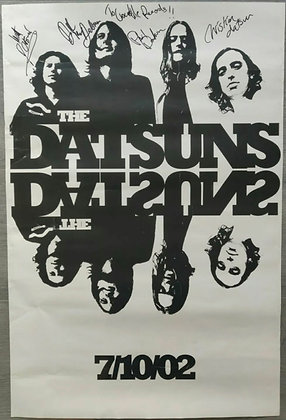 The Datsuns Signed Debut Album Promo Poster from 2002