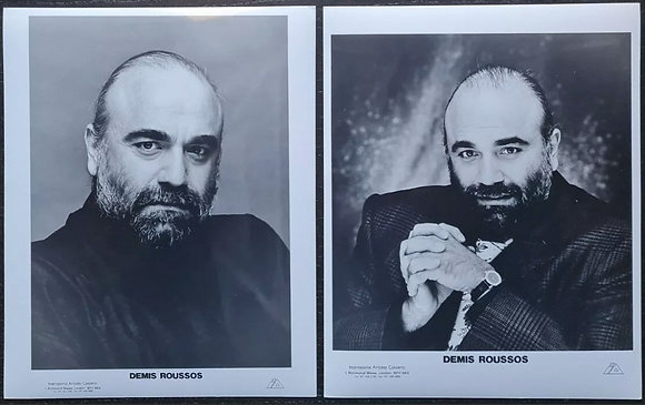 Demis Roussos Promo Photos (X2) - International Artistes Concerts