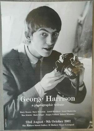 George Harrison Photo Tribute Exhibition Poster - Mathew Street Gallery, 2002