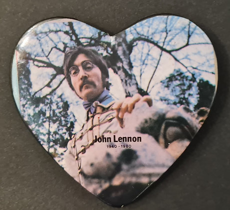 John Lennon 1940-1980 Tribute Pin Badge