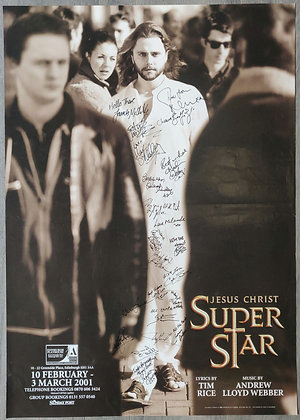 Jesus Christ Super Star Signed Poster from Edinburgh Playhouse 2001