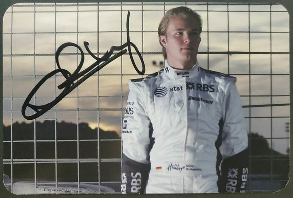 Nico Rosberg Signed Williams F1 Team Drivers Promotional Card