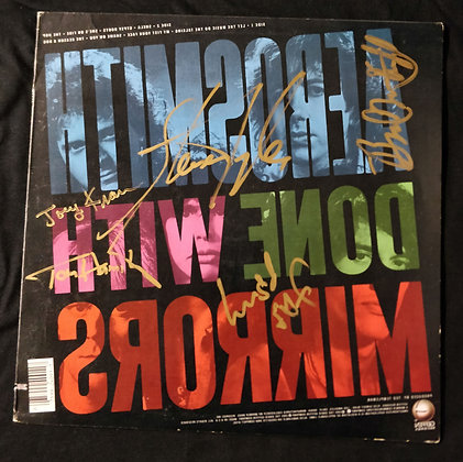 Aerosmith Signed Mirrors LP