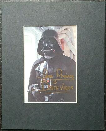 David Prowse Signed & Mounted Darth Vader Photo - Star Wars