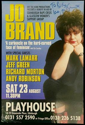 Jo Brand Signed Poster Edinburgh Playhouse 1997