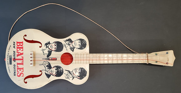 """The Beatles """"New Sound"""" Selcol Toy Guitar from 1964"""
