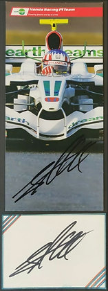 Alexander Wurz Signed Honda Racing F1 Team Drivers Promotional Card + Index Card