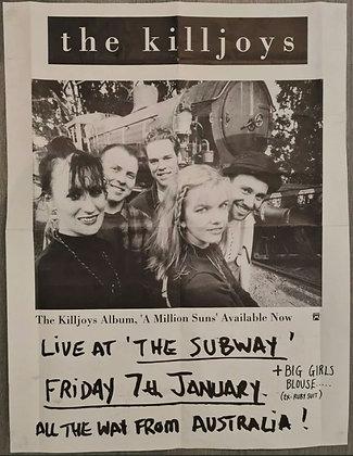 The Killjoys Promo Poster from The Subway, Edinburgh, 1994 - Australian Pop/Folk