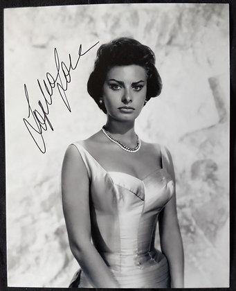 Sophia Loren Signed Photo
