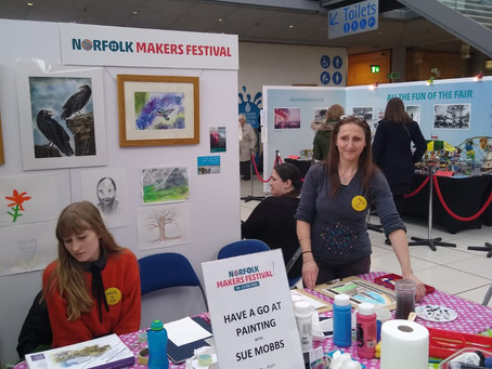 'Pick up a Paint Brush' at Norwich Maker's Festival