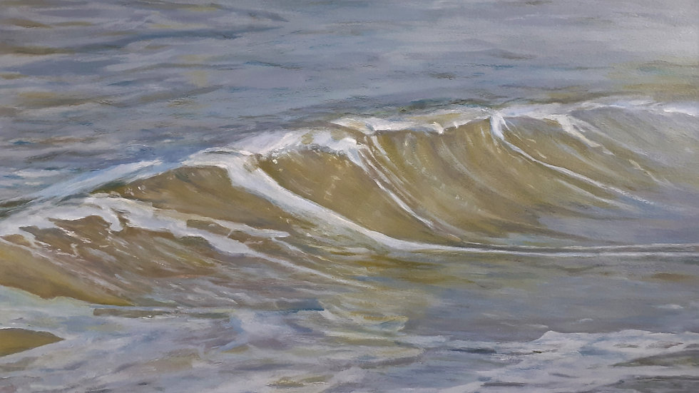 The Last Wave: Acrylic Seascape, full image.